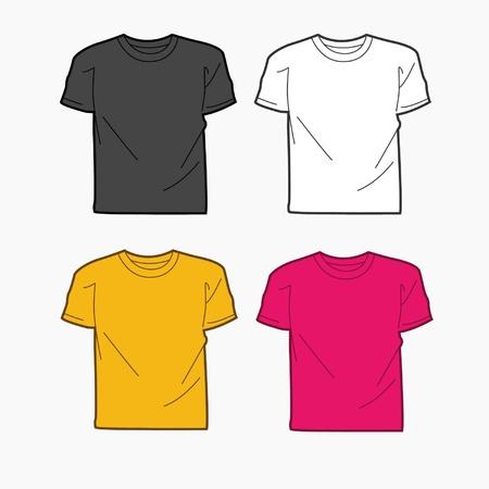 white t shirt: Men T-shirt template