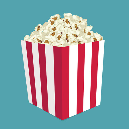 buttered: Popcorn vector Illustration