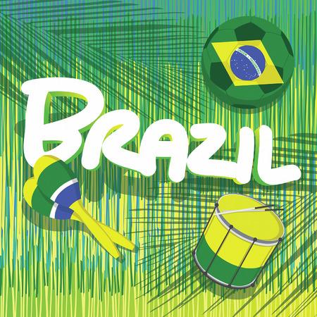 reggae: le football du br�sil avec le fond tropical