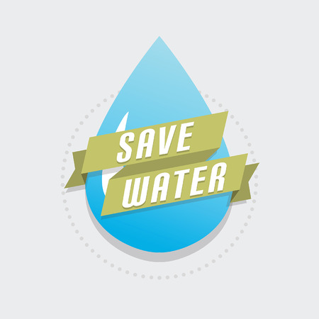 water drip: Save water Illustration