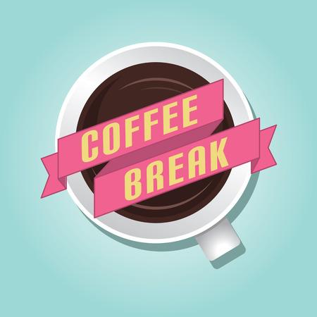 break: Coffee break  Illustration