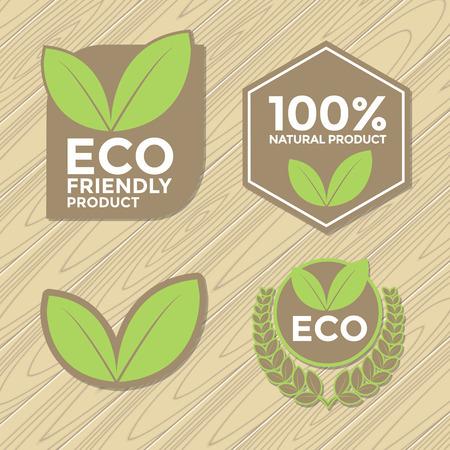 eco friendly: Eco friendly label set Illustration