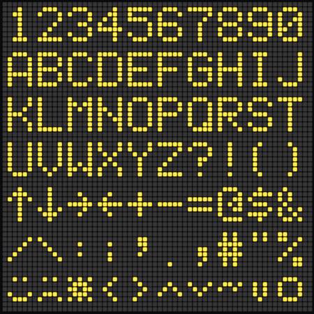 scoreboard: Digital Scoreboard Alphabet and Numbers
