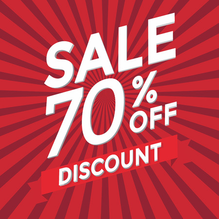 70: Sale 70 percent off discount