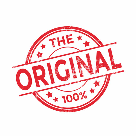 certificated: The Original rubber stamp red color