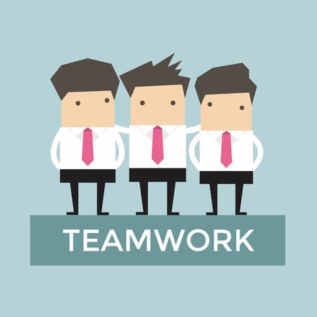 Businessman teamwork vector