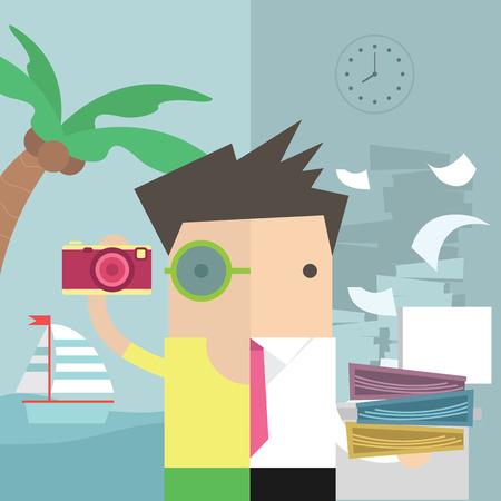 Businessman vacation Illustration