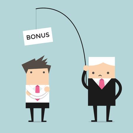 Boss Fischermann, nutzte er Köder von Bonus für Arbeit