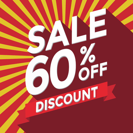 sell off: Sale 60% off discount Illustration
