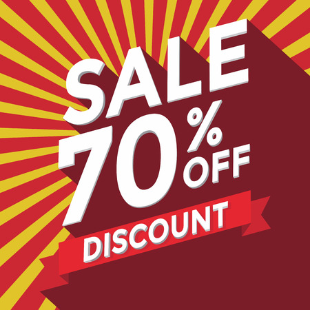 70 years: Sale 70% off discount