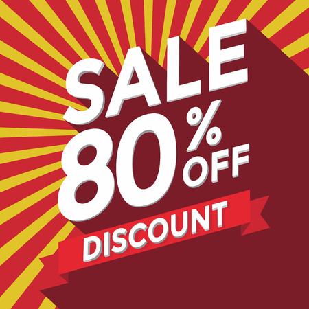 sell off: Sale 80% off discount