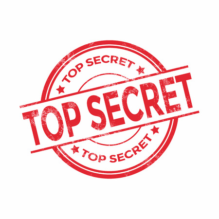top secret: Top secret rubber stamp