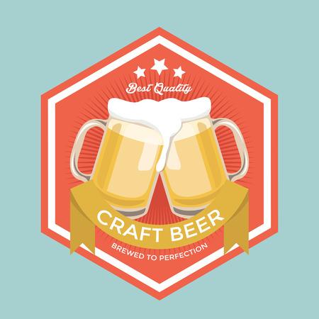 mid century: Retro Craft Beer Sign