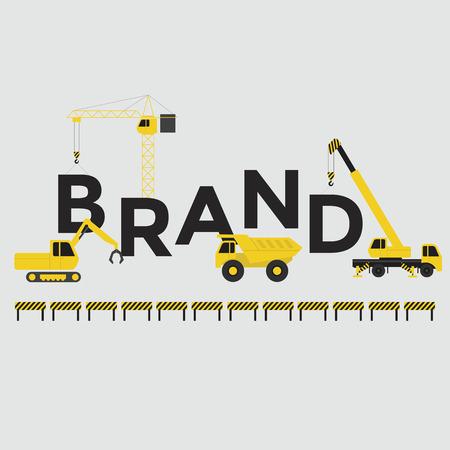 brand activity: Engineering building text Brand Vector