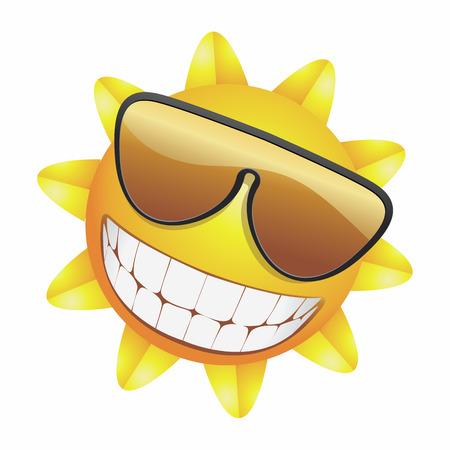 """słońce: UÅ›miechajÄ…cy siÄ™ sÅ'oÅ""""ce Ilustracja"""