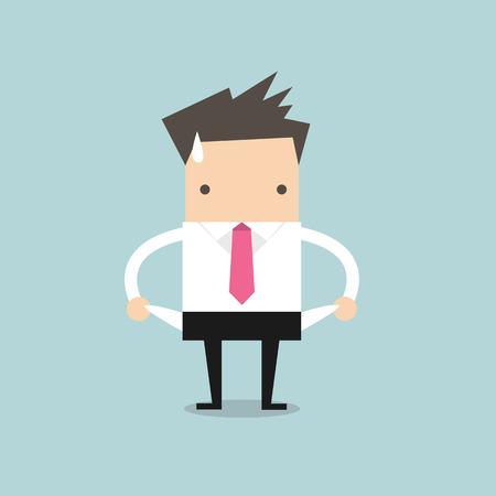 El hombre de negocios no tiene dinero Ilustración de vector