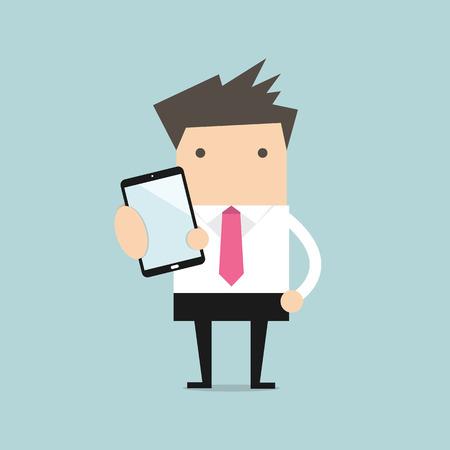 smart man: Business man show smart phone