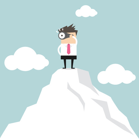 Businessman looking for success vector
