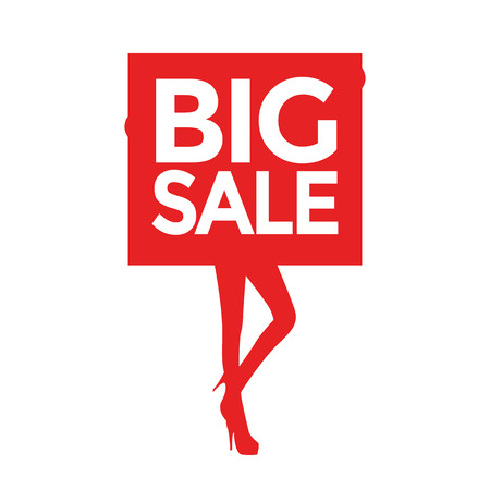 promoter: Big sale women silhouettes Illustration