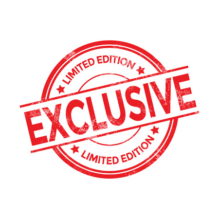 Vector exclusive red stamp Illustration