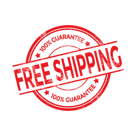 free picture: Vector free shipping red stamp