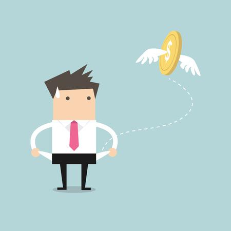 dinero: El hombre de negocios tiene ningún vector de dinero Vectores