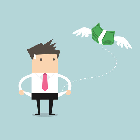 De zakenman heeft geen geld vector
