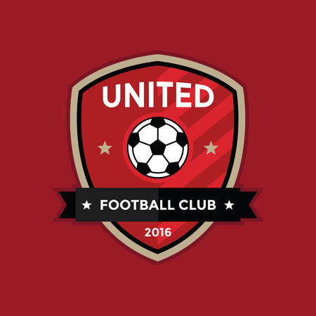 athletic type: Soccer football badge , vector