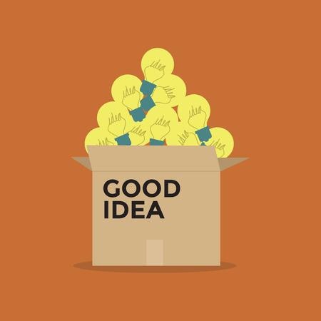 light duty: Good idea light bulb in a box