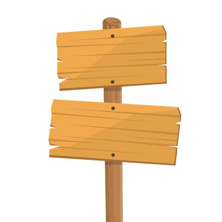 wood art: wooden signboard