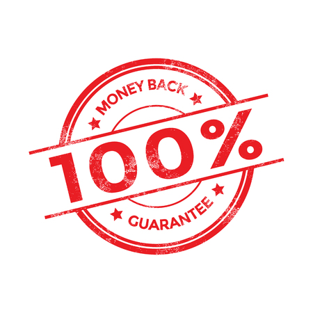 Geld terug vector stempel