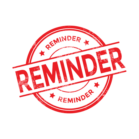 Payment reminder rubber stamp