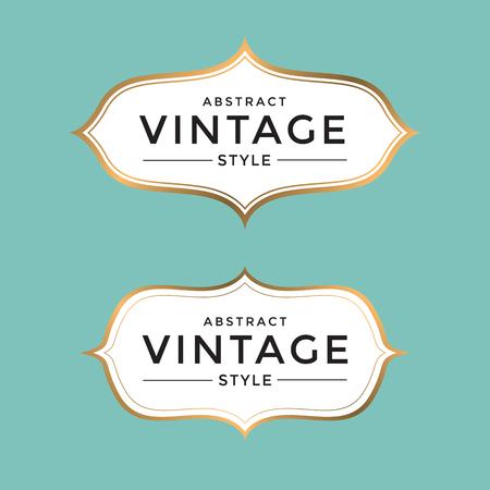 vintage gold frame: Vintage gold frame vector