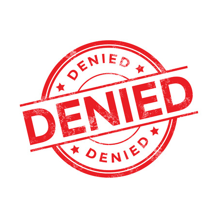 denied: Denied red stamp vector