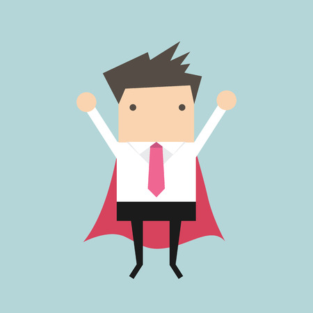 Super businessman vector Illustration