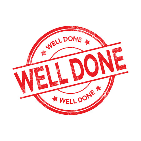 Well done grunge rubber stamp, vector illustration