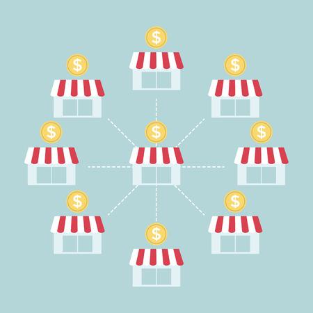Franchise Business-Grafik Illustration