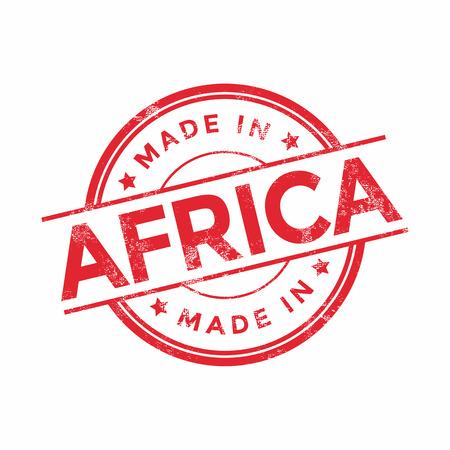 poststempel: Made in Africa rot Vektor-Grafik. Runde Stempel auf weißem Hintergrund. Mit Vintage-Textur. Illustration