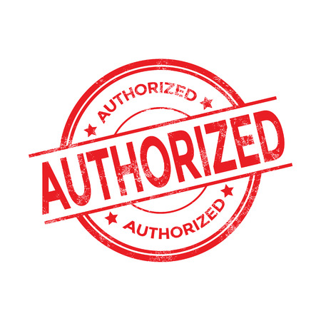 authorized: Red authorized stamp vector Illustration