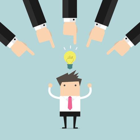 Choosing the Best Business Idea vector Illustration