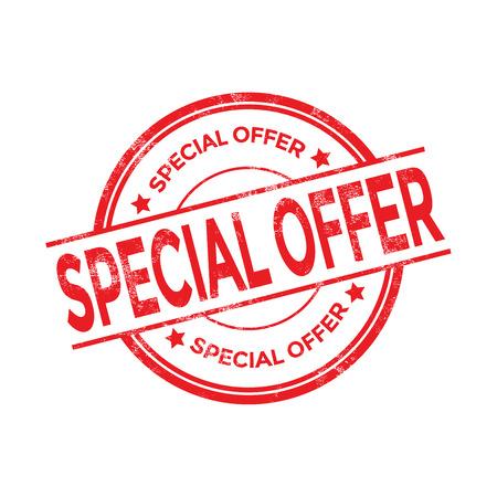 red stamp: Special offer vector stamp