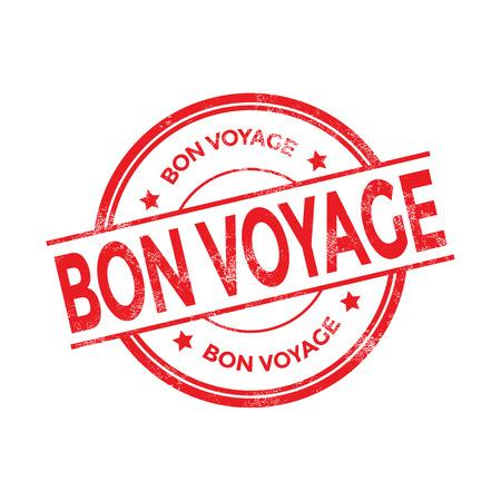 voyage: Bon voyage rubber stamp vector