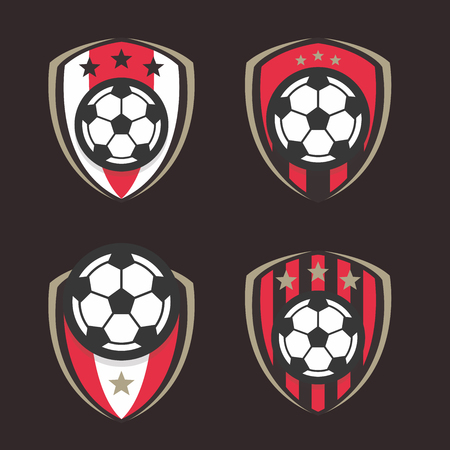 Voetbal Logo of Football Club Sign Badge Set