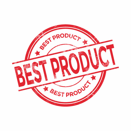 certified: Best product red grunge rubber stamp