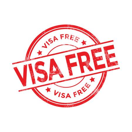 Visa libera el sello Ilustración de vector