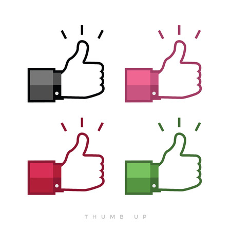 caller: Thumbs up icons set. Illustration