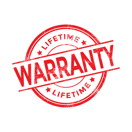 surety: Lifetime Warranty Rubber Stamp
