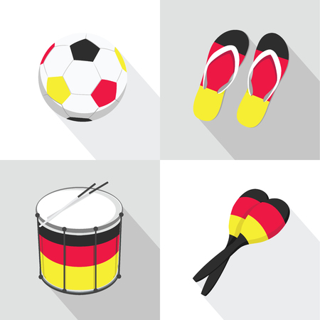 maracas: Germany Soccer football icons flat style