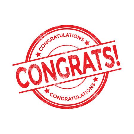 congratulations: sello felicitaciones