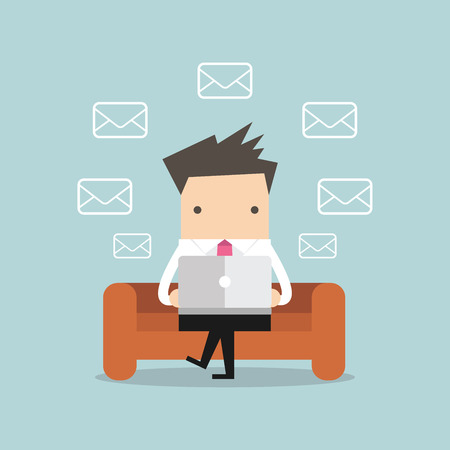 Businessman Check Email Messages
